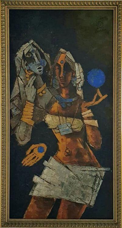 M. F. Husain, 'Untitled (Tribal Women)', 1977