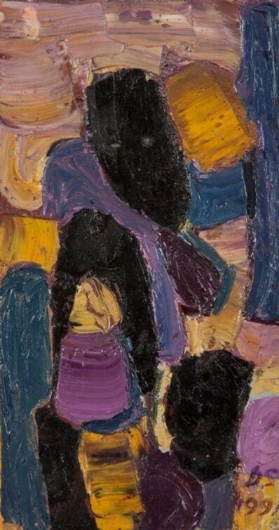 Derek Stafford, 'Abstract with Purple', 1991