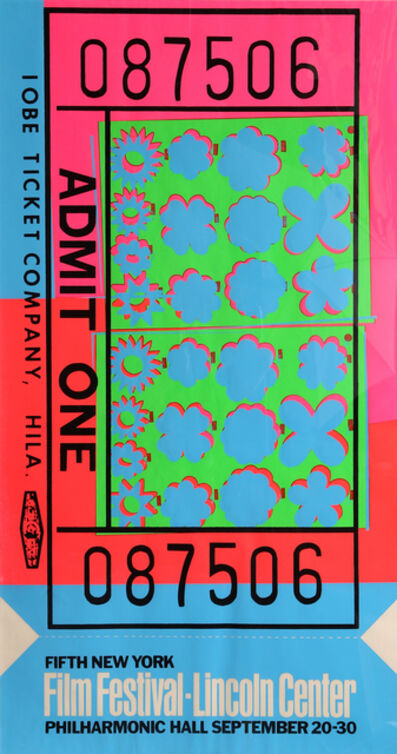 Andy Warhol, 'Lincoln Center Ticket (FS.II.19)', 1967