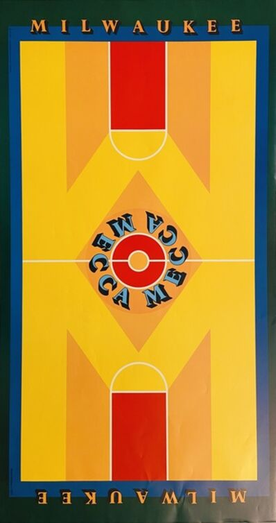Robert Indiana, 'Milwaukee-MECCA Poster, features the painting done for the Basketball Court Poster', 1977