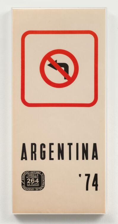 Edgardo Antonio Vigo, 'Argentina '74', 1974