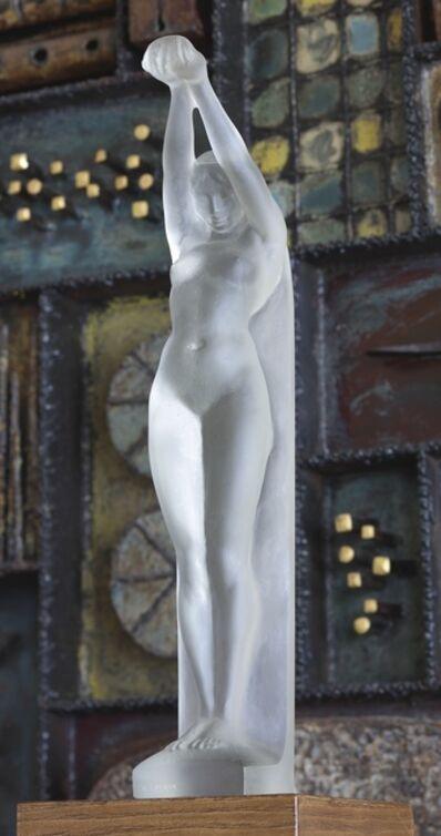 "René Lalique, 'a Rare ""Grande Nue Bras Levés"" Figure, Marcilhac no. 835'"