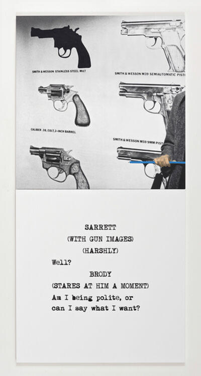 John Baldessari, 'Scene ( ) / Take ( ) : Am I being polite ...', 2014