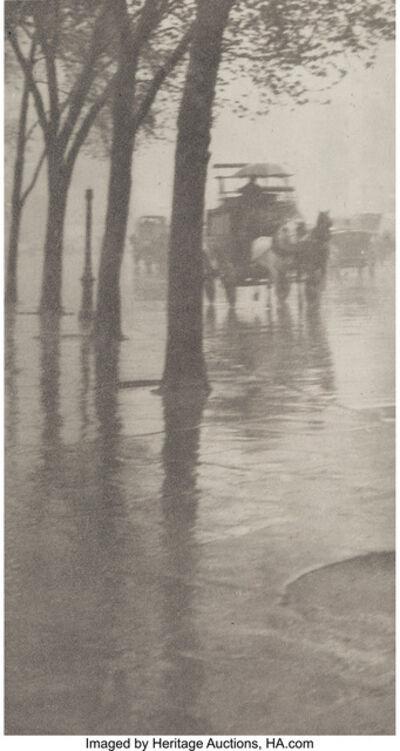 Alfred Stieglitz, 'Spring Showers, the Coach', 1899-900