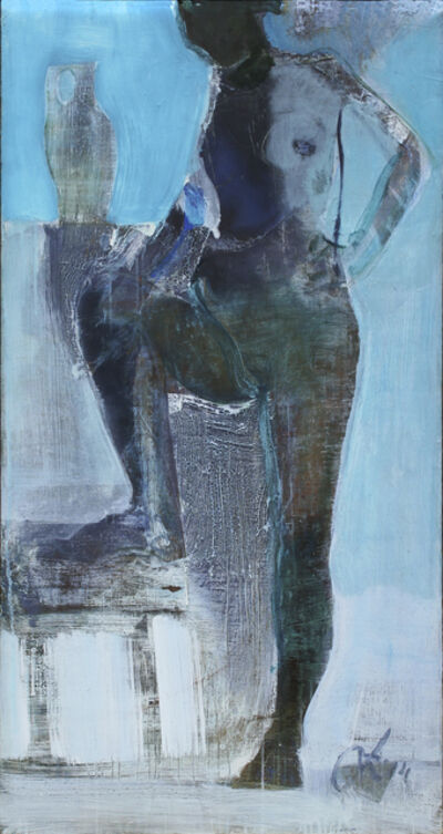 Serhiy Hai, 'Blue Standing Nude', 2014