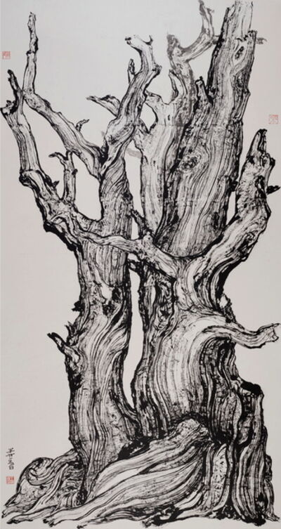 Wang Mansheng 王满晟, 'Old Tree 8 深山尋古木 八', 2014