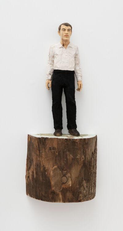 Stephan Balkenhol, 'Mann mit weißem Hemd und schwarzer (Hose / Man with white shirt and black trousers)', 2015
