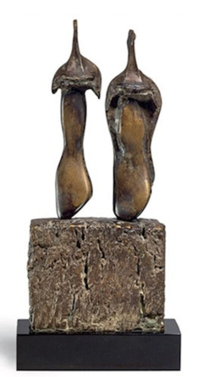 Henry Moore, 'Two Three Quarter Figures on Base'