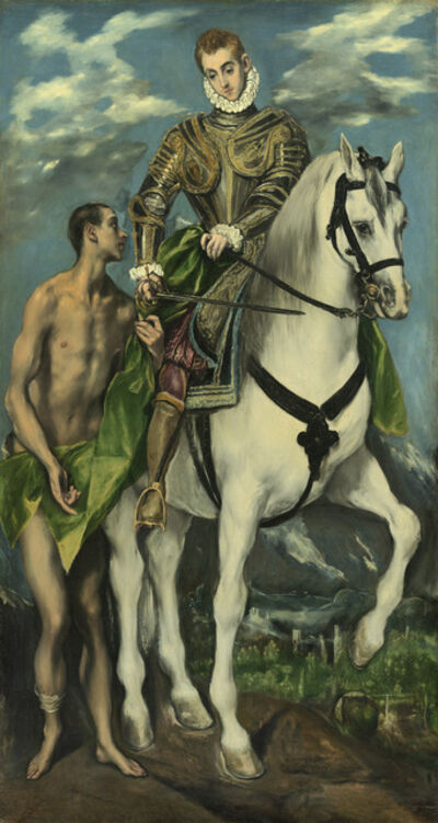 El Greco, 'Saint Martin and the Beggar', 1597/1599