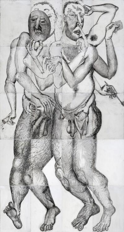 Daniel Heyman, 'Winter: Artist Engages (center panel detail)', 2012