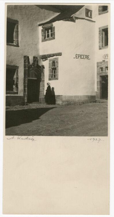 André Kertész, 'Street Scene, Woman Entering Building', ca. 1927
