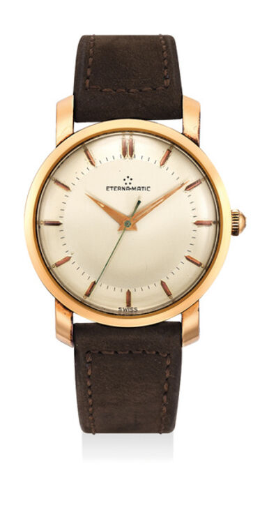 Eterna, 'A fine and attractive stainless steel and pink gold plated wristwatch', Circa 1965