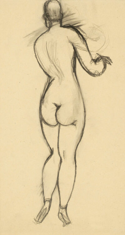 Alfons Walde, 'Nude from the Back, double-sided'
