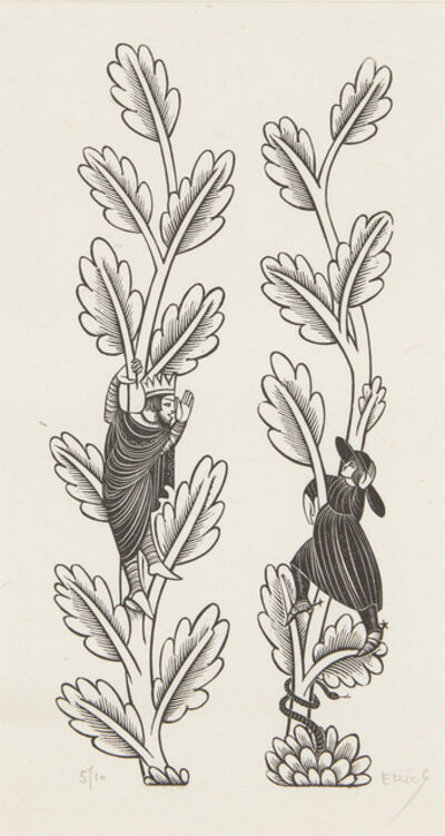 Eric Gill, 'Border from The Canterbury Tales', c.1930
