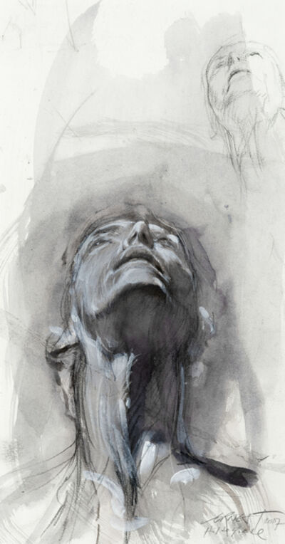 Ernest Pignon-Ernest, 'Etude pour Hildegarde', 2007