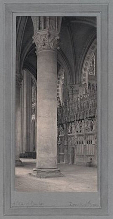 Frederick Henry Evans, 'A Pillar of Chartres [France]', ca. 1905