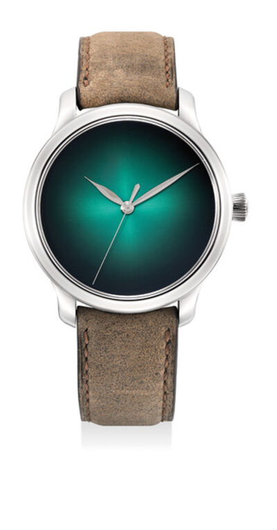 Moser & Cie, 'An extremely fine and rare limited edition white gold wristwatch with cosmic green fumé dial, 7-Day power reserve, center seconds, international guarantee and presentation box, limited to 20 pieces', 2016