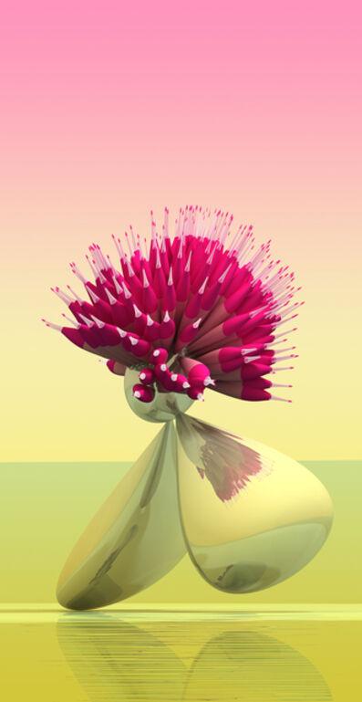Stepan Ryabchenko, 'Crimson Needle Fidget', 2016