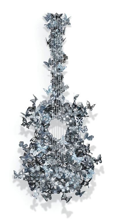 David Kracov, 'Butterfly Guitar Making Beautiful Music (B&W)', 2016