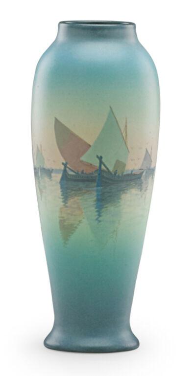 Carl Schmidt, 'Marine Scenic Vellum vase (uncrazed), Cincinnati, OH', 1923
