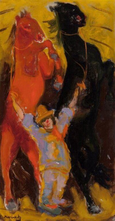Mané-Katz, 'Circus horses'