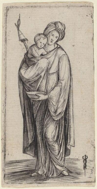Jacopo de' Barbari, 'Woman and Child with Distaff'