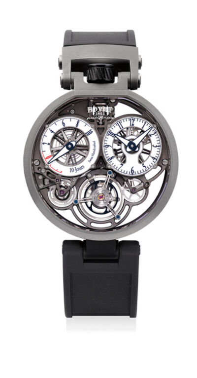 Bovet, 'An attractive limited edition skeletonized titanium 10-day tourbillon wristwatch with certificate of origin and presentation box, numbered 1 of a limited edition of 86 pieces', Circa 2018
