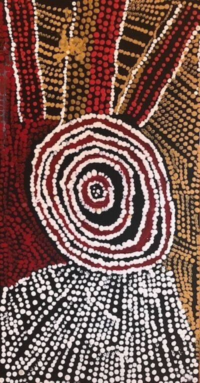 Bill Whiskey Tjapaltjarri, 'Rockholes Near the Olgas (cat: NABWT_RNO10-070015PAG)', 2017