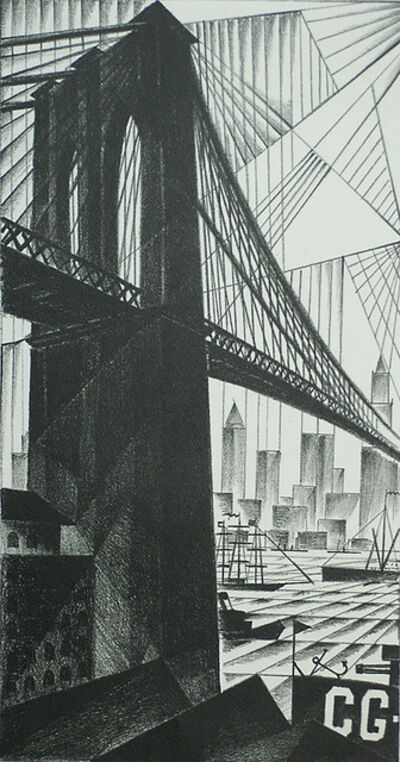 Arnold Ronnebeck, 'Brooklyn Bridge', 1925