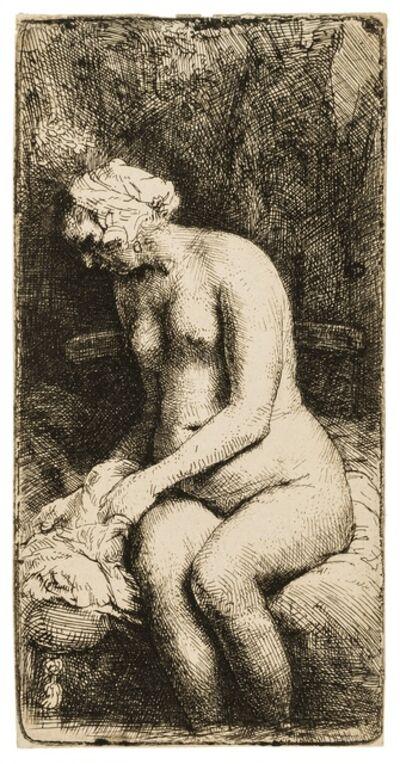 Rembrandt van Rijn, 'Woman Bathing her Feet at a Brook', 1658