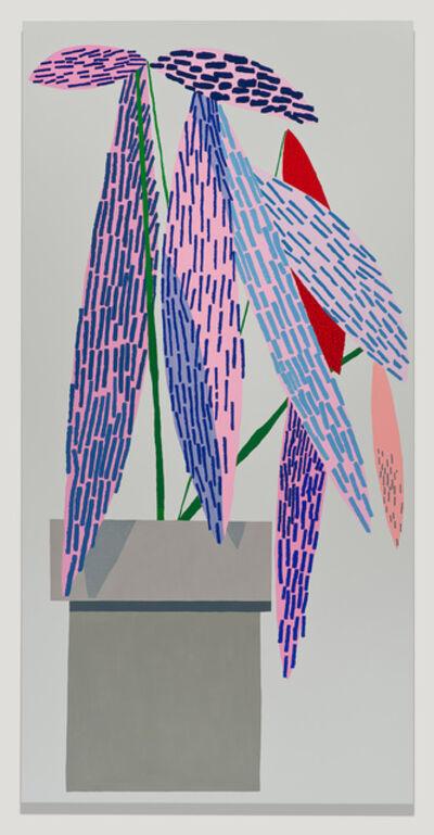 Jonas Wood, 'Pink Plant with Shadow #1', 2014