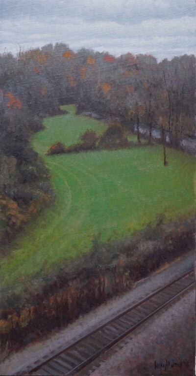 Luke Allsbrook, 'Dark Evening with Green Field', 2018