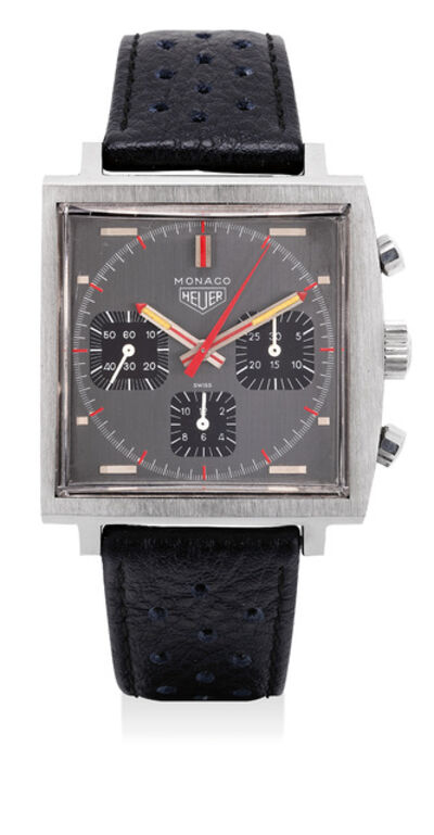 Heuer, 'An exceptionally well preserved stainless steel chronograph wristwatch grey dial and black registers', Circa 1972