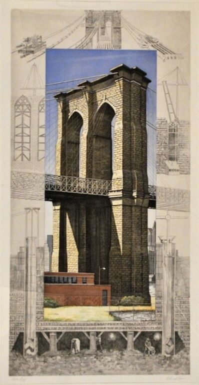 Richard Haas, 'Brooklyn Bridge', 1994