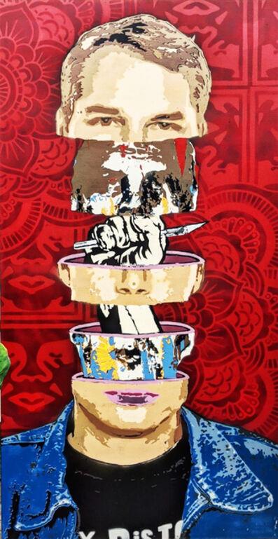 """Kar-Part, '""""Mind Of A Giant"""" - Shepherd Fairey aerosol on canvas ', 2020"""