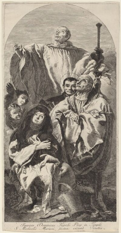 Giovanni Domenico Tiepolo, 'Four Saints of the Benedictine Order'