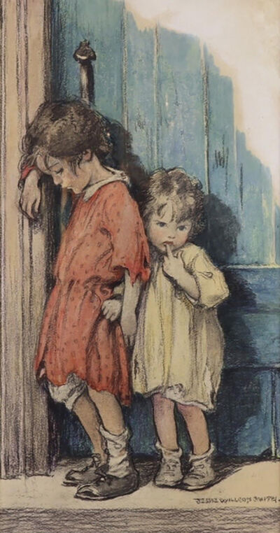 JESSIE WILLCOX SMITH, 'Two Young Girls', 20th Century