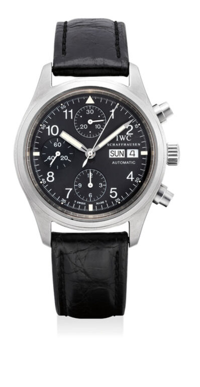 IWC, 'A fine stainless steel chronograph wristwatch with day and date', Circa 1998