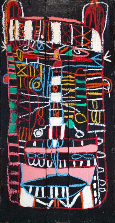 Adébayo Bolaji, 'Untitled: Head On Indian Market Table', 2018