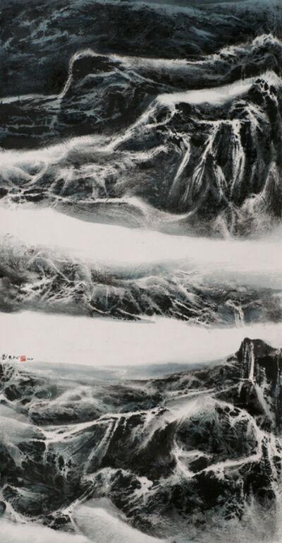 Liu Kuo-sung 刘国松, 'Snow-Bound Mountains', 2015