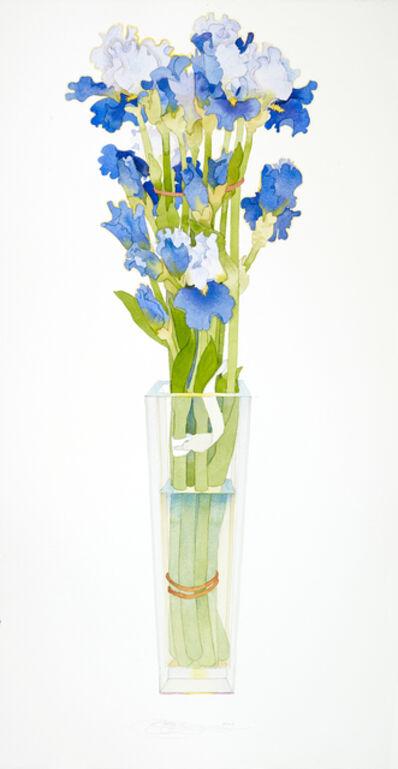 Gary Bukovnik, 'Blue Irises in a Tall Vase', 2019
