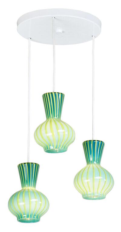 Venini, 'Three-pendant chandelier, Italy', 1960s