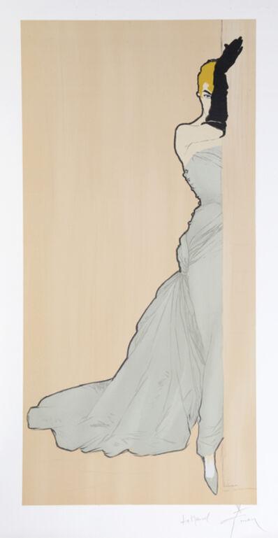 René Gruau, 'Woman in a Doorway', ca. 1970