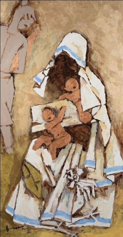 M. F. Husain, 'Mother Teresa (Gold)', 2004