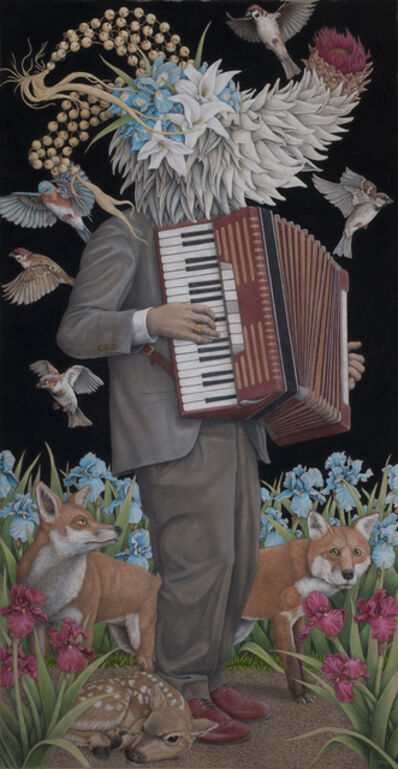 Win Wallace, 'Accordion Player', 2019