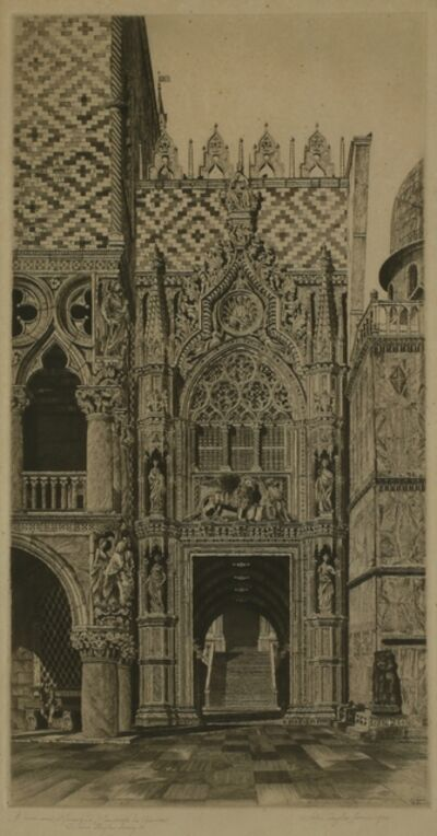 John Taylor Arms, 'Enchanted Doorway, Porta della Carta, Venice', 1930