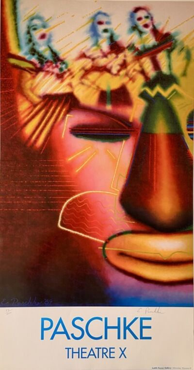Ed Paschke, 'Theatre X, Rare Signed and Numbered Print', 1989
