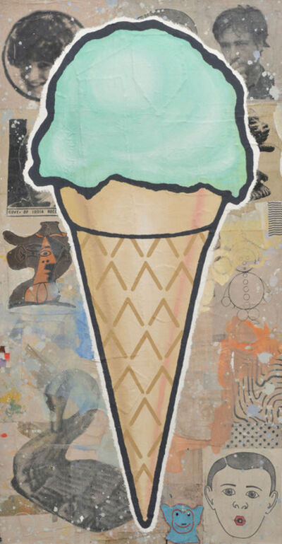 Donald Baechler, 'Large Green Cone', 2008