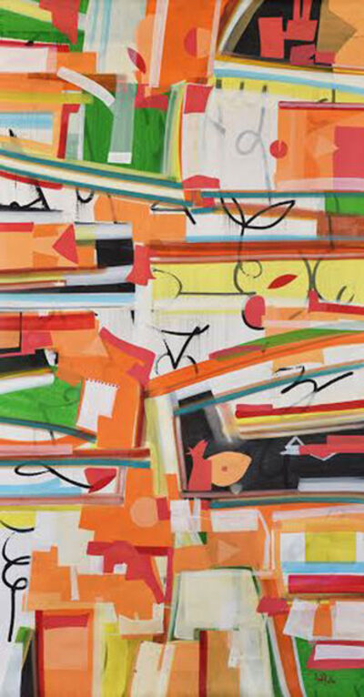 Amit Kalla, 'Bands of colors, abstract, acrylic by Contemporary Artist Amit Kalla', 2016