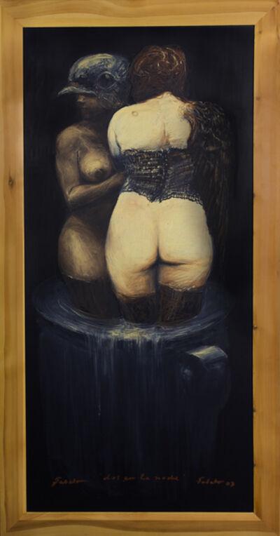 Roberto Fabelo, 'Dos en la noche', 2012